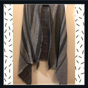 Grey sweater/cape poncho